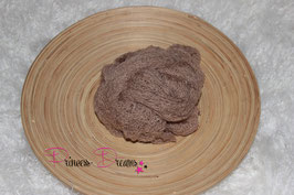 Neu! Strick-Mohair Musterwrap toffee