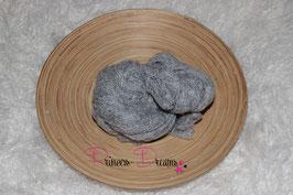 Neu! Strick-Mohair Musterwrap grau