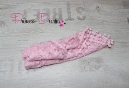 Posing Spitzen-Unterlage mit Bommeln: rosa