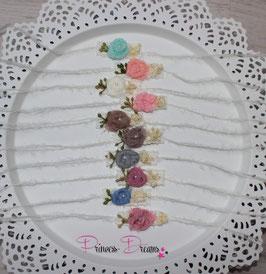 Mohair Haarband SHB Blume viele Farben, bitte Farbe auswählen