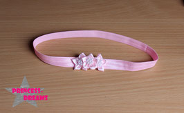 Haarband Blumen18 rosa