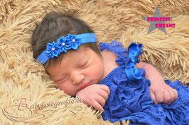 Haarband Blumen royalblau BHB10