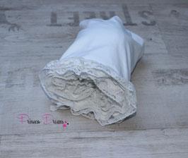 Rüschenwrap weiß