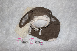 Häschen Set: Body & Mütze mit Ohren