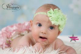 Stofffransenblume babygrün LHB11