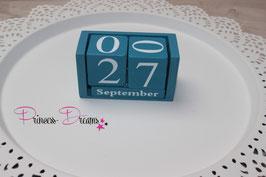 Geburtstag-Würfel Vintage blau klein