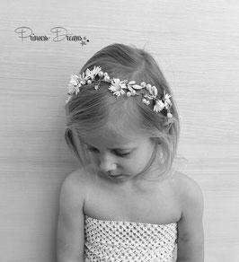 Blumen - Kranz gold für Feierlichkeiten oder Fotoshooting