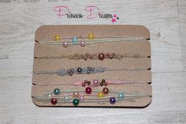 SHB 5er Set Perlen versch. Farben Rainbow