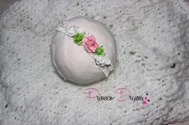 SHB Blumen Vintage weiß/rosa/grün