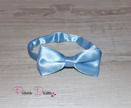 Satin Mini Fliege hellblau 10x5cm