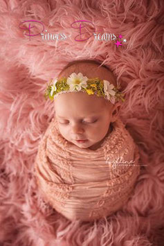 Blumenkranz ab Newborn gelb/grün
