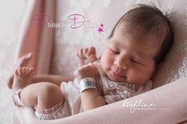 Spitzenbody rosa ca. 0-2 Monate auch mit Haarband oder Bonnet bitte unten auswählen
