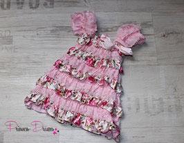 Rüschenkleid rosa/Rosen