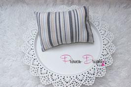 Pillow beige/grau/weiß gestreift