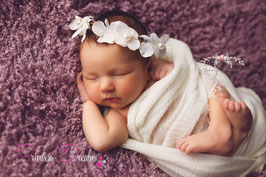 Blütenkranz für Newborns creme