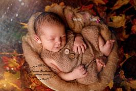 Newborn Mohair Latzshorts braun