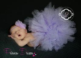 Set Newborn Tutu flieder & HB flieder