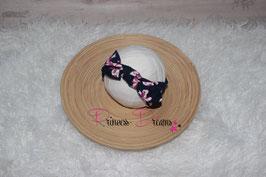Schleifen-Stirnband ab KU40 marine /Flowers