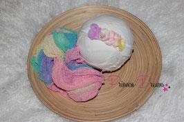 Set Rainbow Wrap & SHB Blumen Haarband