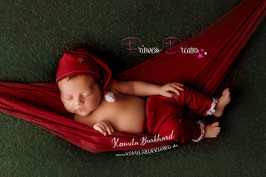 genähtes Santa Claus Set Newborn Höse/Mütze/HB auch einzeln weinrot