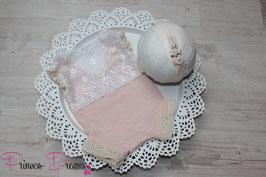 Spitzen Romper nude/pastellaprikot