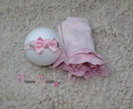 Set3 Rüschenwrap & HB rosa