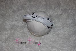 Schleifen-Stirnband ab KU40 weiß/schwarz
