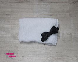Set1 Wickeltuch & Satin Fliege weiß/schwarz