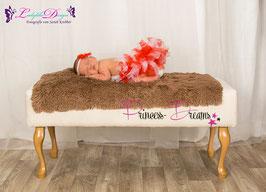 Newborn Tutu rot/weiß