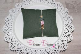 Pillow grün & passendes Natur Haarband