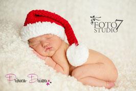 X-MAS Weihnachtsmütze rot/weiß 0-3 Monate