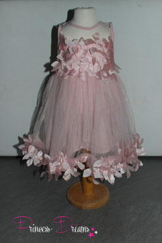 Neu! Princess-Kleid rosa mit Blüten 1-3 Jahre