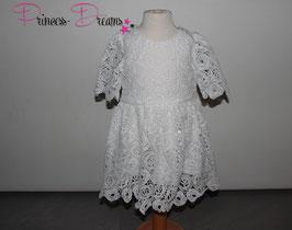 Neu! Princess-Kleid Spitzenkleid weiß 1-2 Jahre