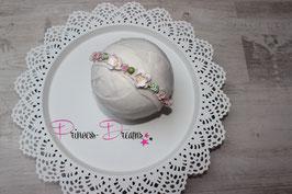 Blumenkranz mit Gummiband ab Newborn babyrosa