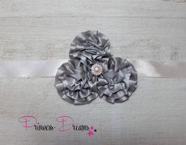 NEU Bauchband Blumen grau/pastellaprikot