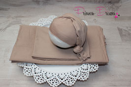 Beanbagdecke beige mit passenden Wrap und oder Mütze alles in beige bitte auswählen