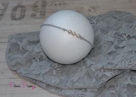 Mohair grau Perlen pastell aprikot