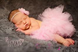 SET: Newborn Tutu rosa & HB494