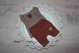 Set Hose & Shirt ärmellos  rost braun/taupe Boys 0-2