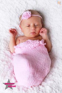Haarband Fransenblume rosa LHB22