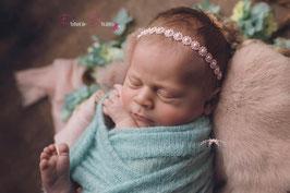 BHB Perlen/Blumen rosa  , weiß, flieder