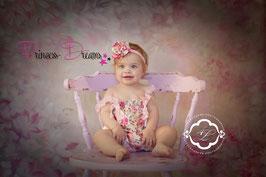 Satin-Rüschenstrampler 3-18 Monate