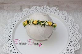 Blumenkranz zum Binden ab Newborn gelb