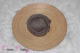 Neu! Strick-Mohair Musterwrap braun