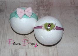 Spar Set JHB Schleife rosa/mint  & JHB plum/grün