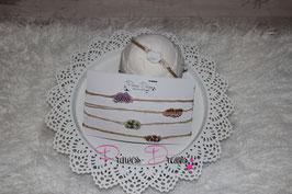 SHB Perlenband auf Naturband in vielen Farben