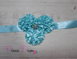 NEU Bauchband Blumen blau
