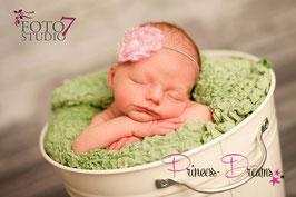 HB654 Glitzer Fransenblume rosa/silber