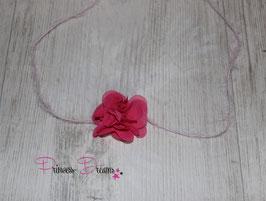 VHB 594 Mohaiwolle & kl Blume pink