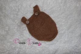 Newborn Mohair Overall braun/Toffee